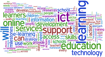 Wordle on ICT in Education