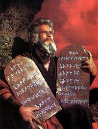 Heston as Moses