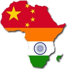 India china africa