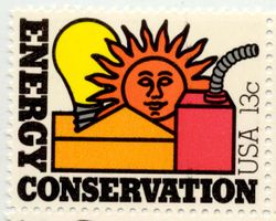 Energy conservation stamp