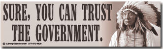 Sure - you can trust the government
