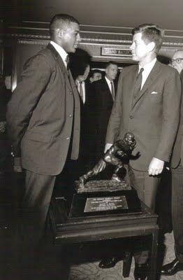 JFK and Ernie Davis