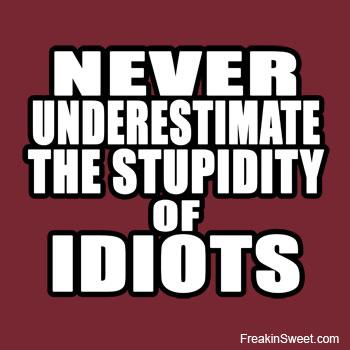 Stupid idiots