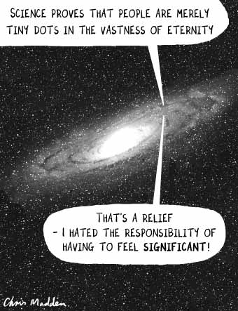 Insignificant in cosmos