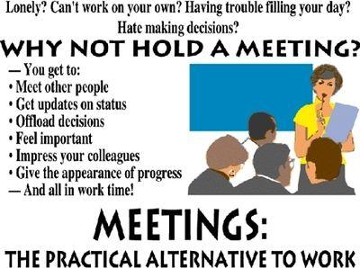 Meetings poster