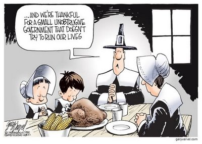Thankful for small government